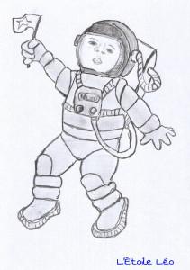Léo le petit Astronaute by Papours good